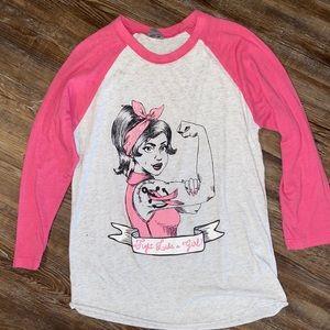 Tops - Breast Cancer Awareness woman's T-shirt sz xl
